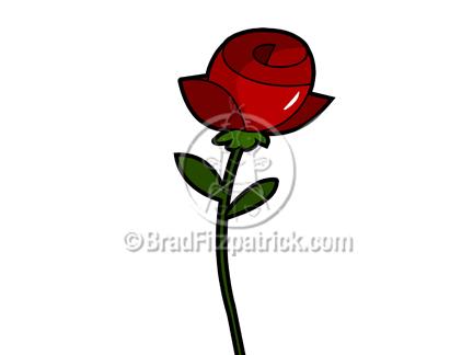Royalty Free Rose Cartoon Clipart. The cartoon rose clip art illustration