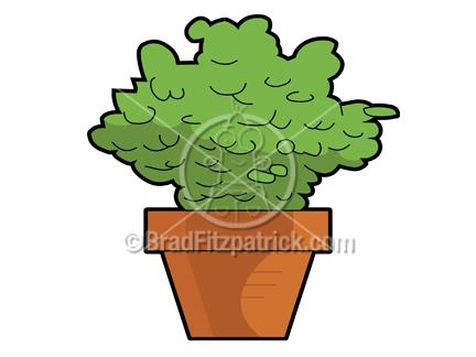 Cartoon House Plant Clip Art | Royalty Free House Plant Clipart | Cartoon