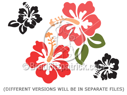clip art flowers. Cartoon Hibiscus Clipart