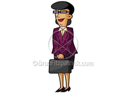 clip art woman shopping. Cartoon Business Woman Clipart