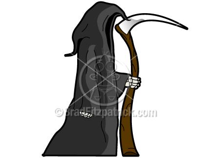 Cartoon Grim Reaper Clip Art | Grim Reaper Graphics | Clipart Grim ...