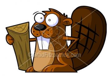 Cartoon Beaver Clipart Character Royalty Free Beaver