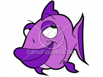 cartoon fish. Purple Cartoon Fish - Page 2