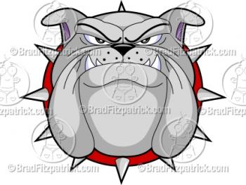 Cartoon Bulldog Mascots -  Bulldog Mascot Pictures - Vector Bulldog Mascot Clipart Images!