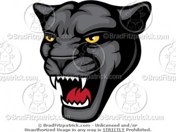 Cartoon Panther Mascots -  Panther Mascot Pictures - Vector Panther Mascot Clipart Images!