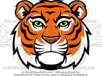 Cartoon Tiger Mascots -  Tiger Mascot Pictures - Vector Tiger Mascot Clipart Images!