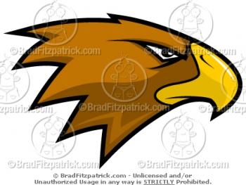 Cartoon Hawk Mascots -  Hawk Mascot Pictures - Vector Hawk Mascot Clipart Images!