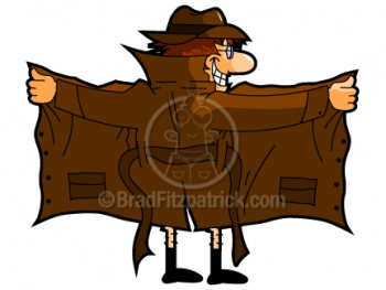 Cartoon Flasher Clipart Graphic