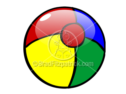 Cartoon Beach Ball Clipart Picture | Royalty Free Beach Ball Clip Art