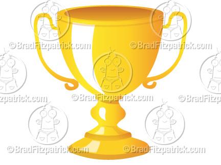 Cartoon Trophy Clip Art