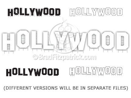 Hollywood sign clip art hollywood sign graphics clipart cartoon hollywood sign clipart graphics stopboris Images