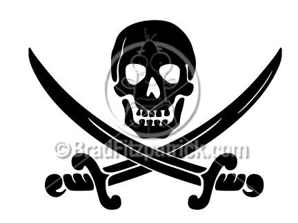Skull & Crossbones Clip Art | Skull & Crossbones Clipart Graphics | Vector