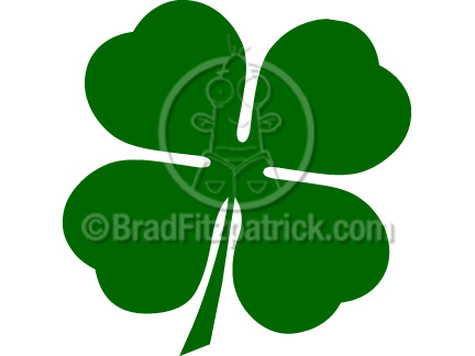 Cartoon Four Leaf Clover Clipart | Four Leaf Clover Clip Art Graphics