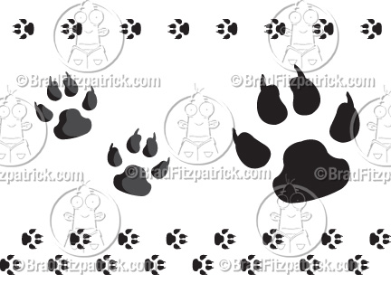 Cartoon Dog Paw Clip Art | Dog Paw Print Clipart Graphics | Vector ...