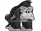 Cartoon Gorilla Clipart Character