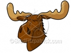 Cartoon Moose Clipart Character