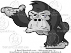 Angry Gorilla Presenting or Introducing Something
