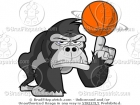 Gorilla Spinning a Basketball on His Finger