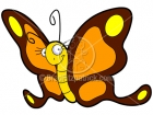 Cartoon Butterfly Clipart Character