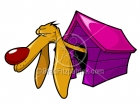 Cartoon Dog & Doghouse Stock Illustration
