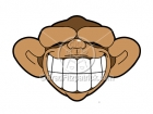Cartoon Monkey Smiling Clip Art