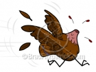 Cartoon Turkey with His Head Cut Off Clipart