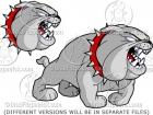 Cartoon Bulldog Barking!
