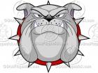 Bulldog Face Cartoon Mascot Logo