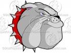 Cartoon Bulldog Head Mascot