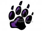Black Panther Paw Print Clip Art