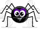 Cute Spider Clipart Character Mascot