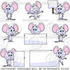 Cute Cartoon Mouse Clip Art Pack
