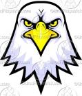 Bald Eagle Face Logo Clipart