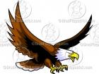 Cartoon Flying Eagle Clip Art Logo