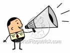 A Man with Megaphone Clipart Picture
