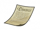 Cartoon Divorce Papers Illustration