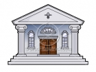 Royalty Free Museum Cartoon Clipart