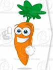 Clipart Carrot Character Pointing Up