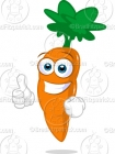 Cartoon Carrot with His Thumbs Up Clip Art
