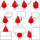 Cartoon Blood Character Clipart Mascot Graphics