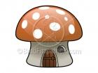 Cartoon Mushroom House Clipart Graphics