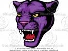 Purple Panther Head Mascot Picture
