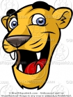 Cute Cougar Mascot Clip Art for Kids