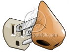 Cartoon Electric Nose Clipart Graphics