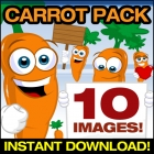 Carrot Vector Pack Collection Clipart