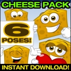 Cartoon Cheese Clipart Collection - Cheese Vector Pack!