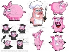 Pigs! Clip Art Collection Pack