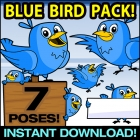 Cartoon Blue Bird Clipart - Twitter Bird Clip art