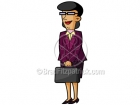 Cartoon Business Woman Clipart Character
