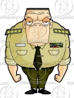 Cartoon Soldier Clipart Character